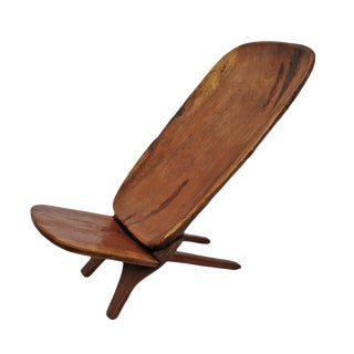 Senufo Stargazer Wood Folding Chair For Sale