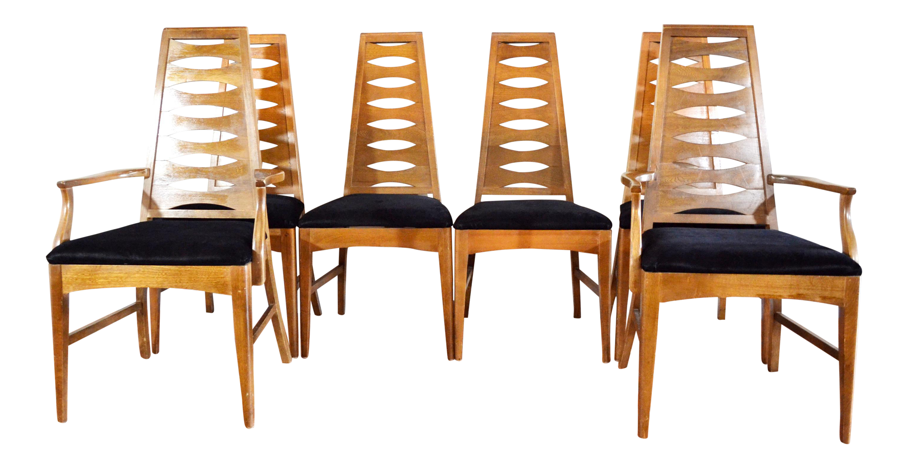 Young Manufacturing Mid Century Dining Chairs   Set Of 6   Image 1 Of 11