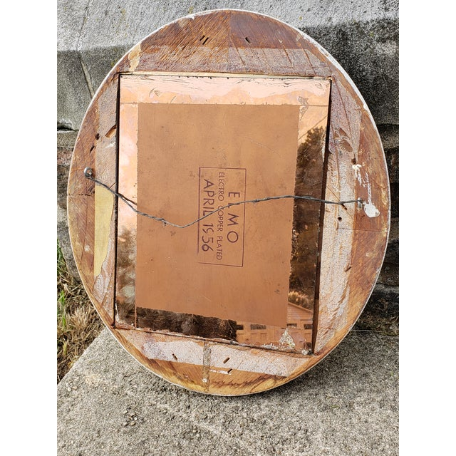 Antique Shabby Chic Style Carved Wood Mirror For Sale - Image 10 of 12