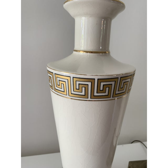 Regency Greek Key Table Lamps - a Pair For Sale - Image 11 of 12