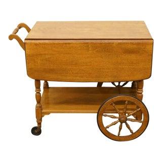 Ethan Allen Heirloom Nutmeg Maple Colonial Tea Cart For Sale