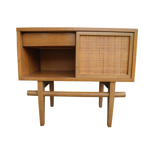 1950's Mid-Century Modern Single Maple Nightstand For Sale - Image 9 of 9