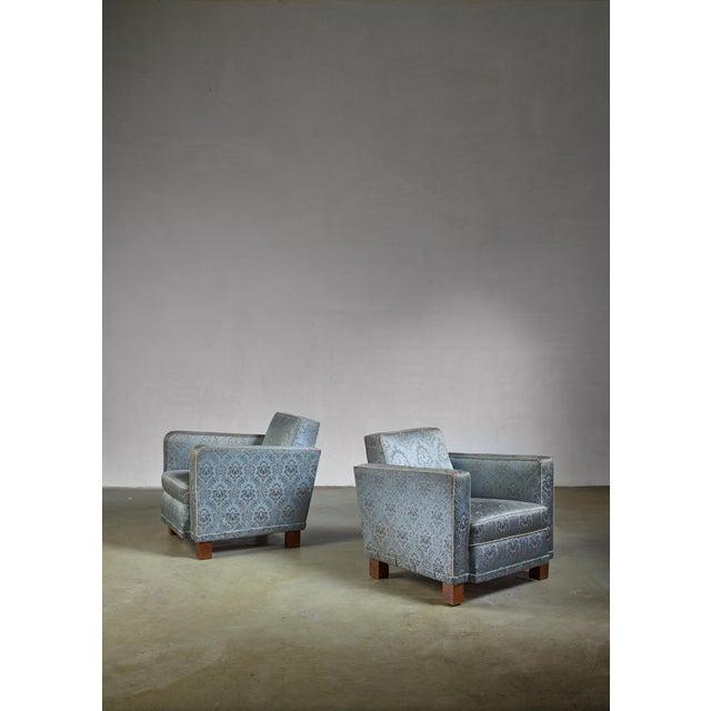 1930s Bjorn Tragardh Pair of Easy Chairs for Svenskt Tenn, 1930s For Sale - Image 5 of 5