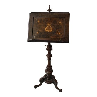 1880s English Double Sided Music Stand For Sale