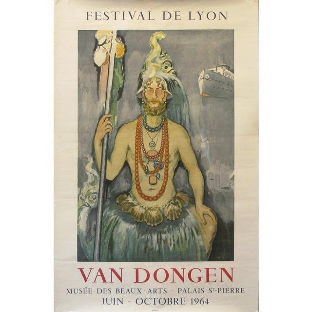 1964 Original French Festival Poster, Van Dongen For Sale - Image 6 of 6