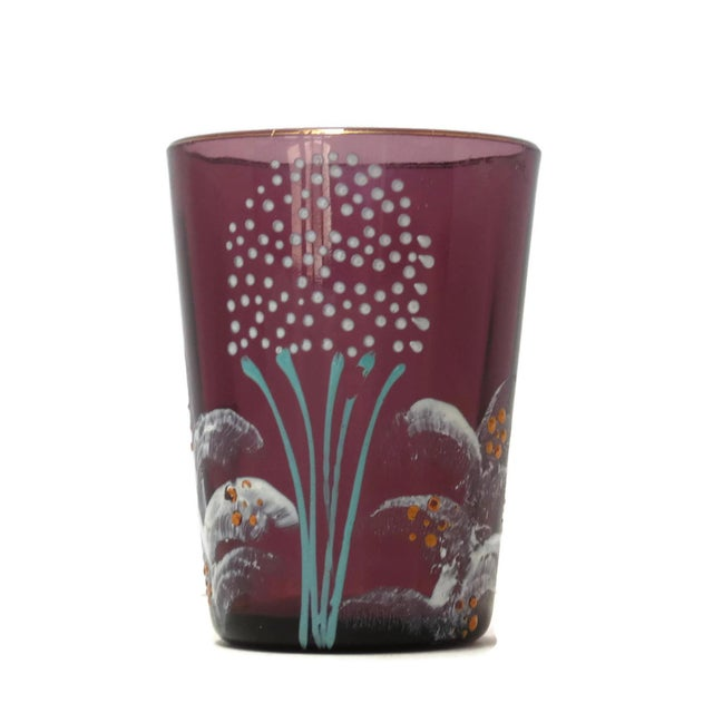 Antique Victorian Purple Glass Tumbler For Sale In Phoenix - Image 6 of 6