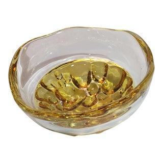 Kosta Boda Sugar Dandy Bowl Amber For Sale