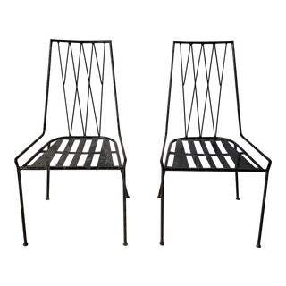Paul McCobb Wrought Iron Side Chairs - a Pair For Sale