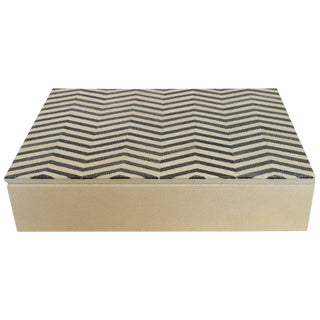 Ivory and Black Shagreen Box For Sale