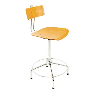 Mid Century Counter Height Stool For Sale