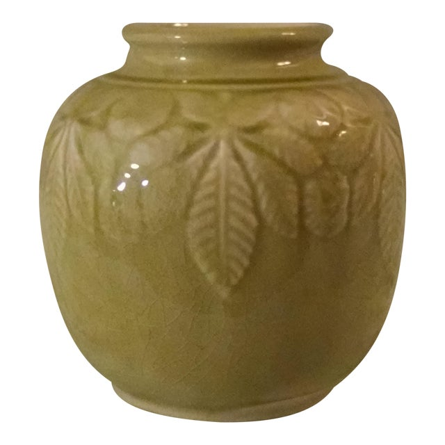 Exquisite Celadon Glazed Rookwood Vase Chairish