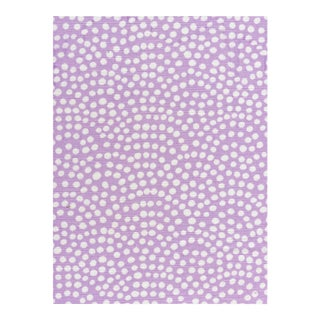 Quadrille Mojave by Alan Campbell Lavender on White Fabric