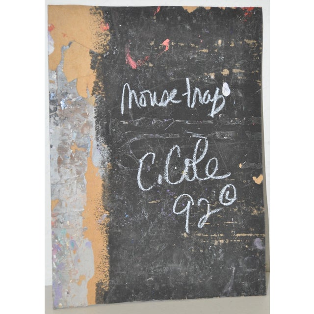 C. Cole Expressionist Abstract Urban Painting For Sale - Image 5 of 5