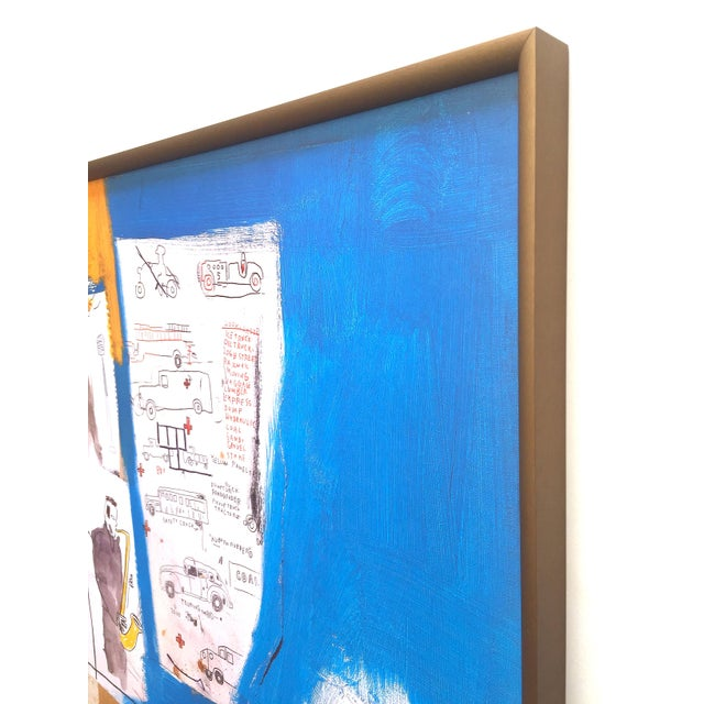 """Jean Michel Basquiat Rare Vintage 1997 Framed Lithograph Fine Art Print """" Worthy Constituents """" 1986 For Sale - Image 10 of 13"""