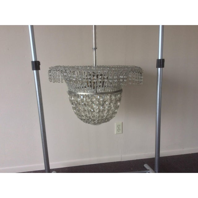1920's Beaded Hanging Light For Sale In San Antonio - Image 6 of 6