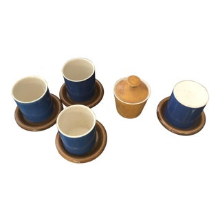 1950s Mid-Century Modern Atomic Luke Lietzke Tea and Sugar Porcelain Serve-Wear - Set of 9