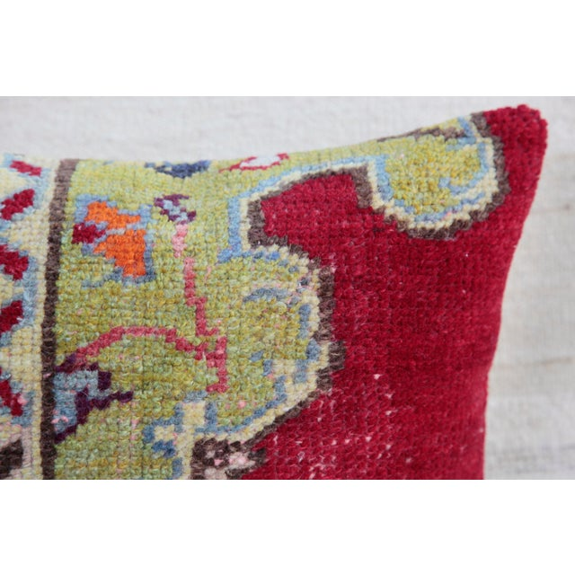 "This is beautiful Carpet pillow, it""s made from old Turkish rug. it has been soft washing before be come a pillow. The..."