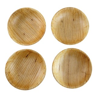 Mid-Century Minimalist Wooden Bowls - Set of 4
