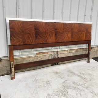 Vintage Modern King Size Headboard With Steel Trim Preview