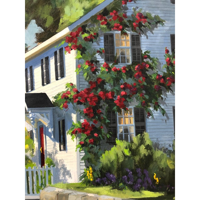 Traditional Sunny Afternoon Original Painting by Line Tutwiler For Sale - Image 4 of 11