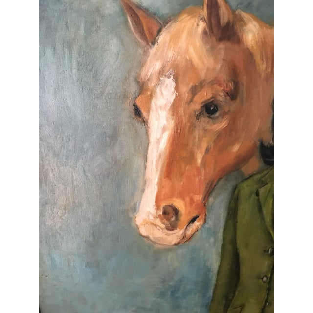 Equestrian Oil Painting - Image 5 of 6