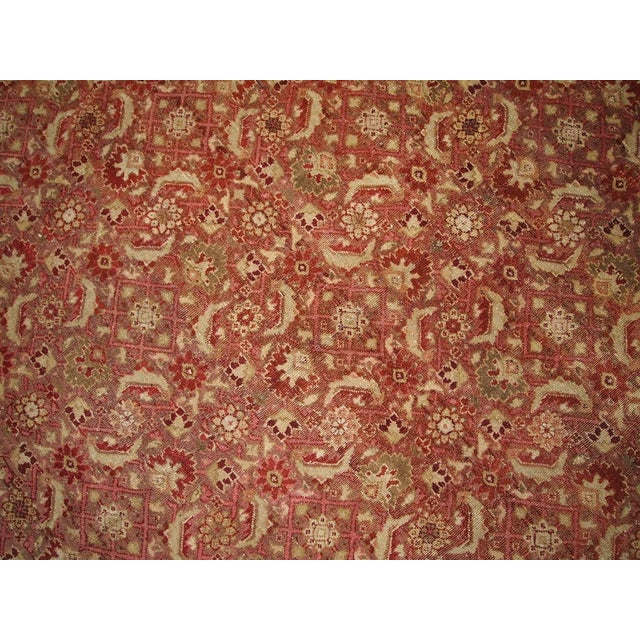 Antique Indian Amritsar Rug - 7′ × 9′8″ For Sale - Image 4 of 5