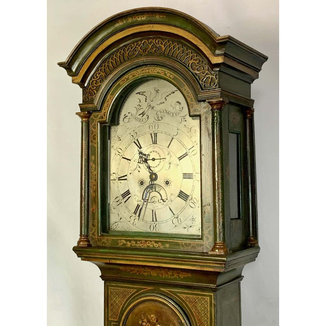 George III Chinoiserie Decorated Long Case Clock For Sale - Image 10 of 13