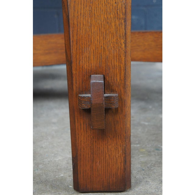 Mission Stickley Commemorative Library Center Table For Sale - Image 10 of 13