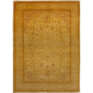 "Hand-Knotted Afghan Rug,, 9'0"" X 12'4"" Feet"