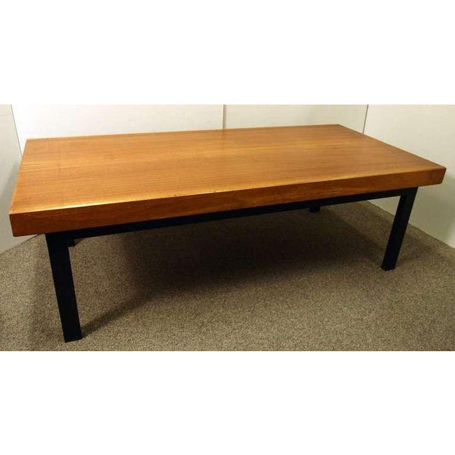 French Industrial Coffee Table: French Mid-Century Industrial Coffee Table / Gallery Bench