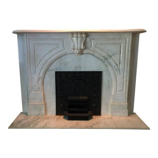 Victorian Marble Fireplace Mantel For Sale