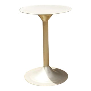 Modern Nickel Tulip Side Table For Sale