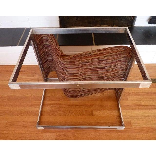 Milo Baughman MCM Chrome Lounge Chair - Image 9 of 9