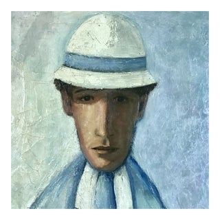 French Mid Century Portrait of a Man by Jacqueline Fromenteau