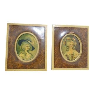 Miniature Marie Antoinette Portraits - a Pair For Sale