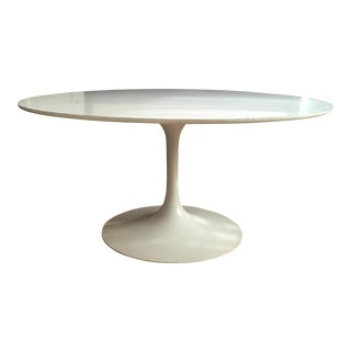 Burke 1960s White Tulip Dining Table For Sale