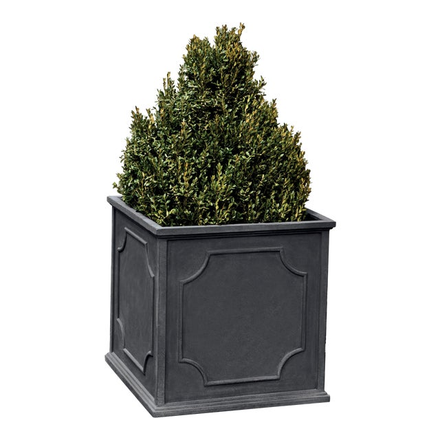 Thorney Square Planter, Extra Large, Lead Lite For Sale