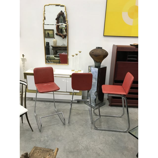 Mid-Century Modern 1970s Bar Stools by Stendig - Set of 3 For Sale - Image 3 of 13