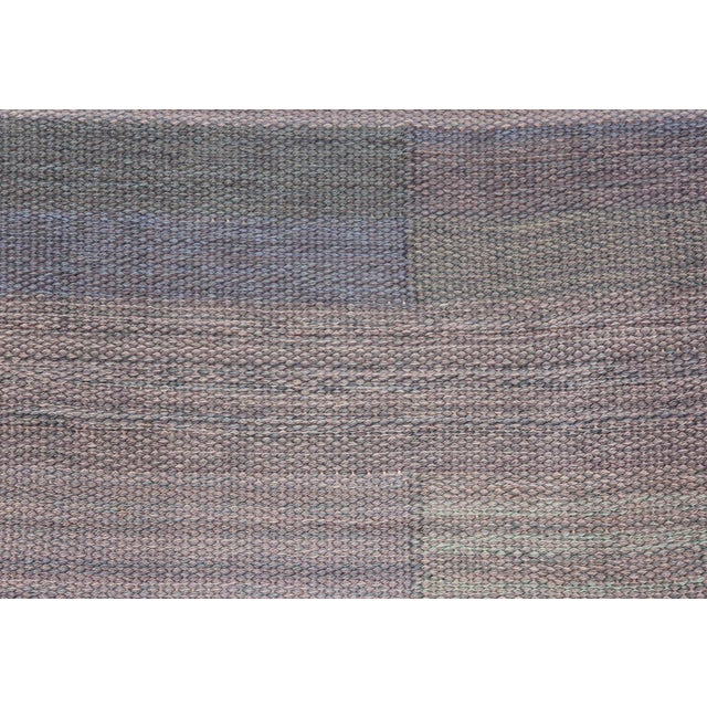 Textile Vintage Swedish Kilim Rug by Marianne Richter for Marta Maas - 7′4″ × 7′6″ For Sale - Image 7 of 11