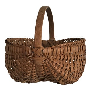 Appalachian Splint Oak Double Buttock Basket