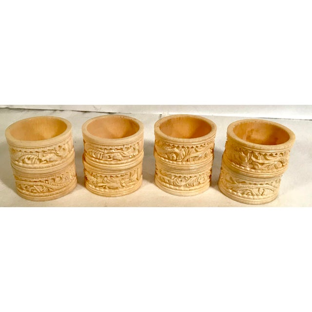 Asian Asian Carved Dragon Motif Napkin Rings - Set of 8 For Sale - Image 3 of 7