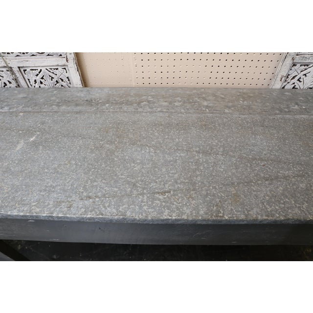 Industrial Zinc Top Console Table - Image 4 of 5
