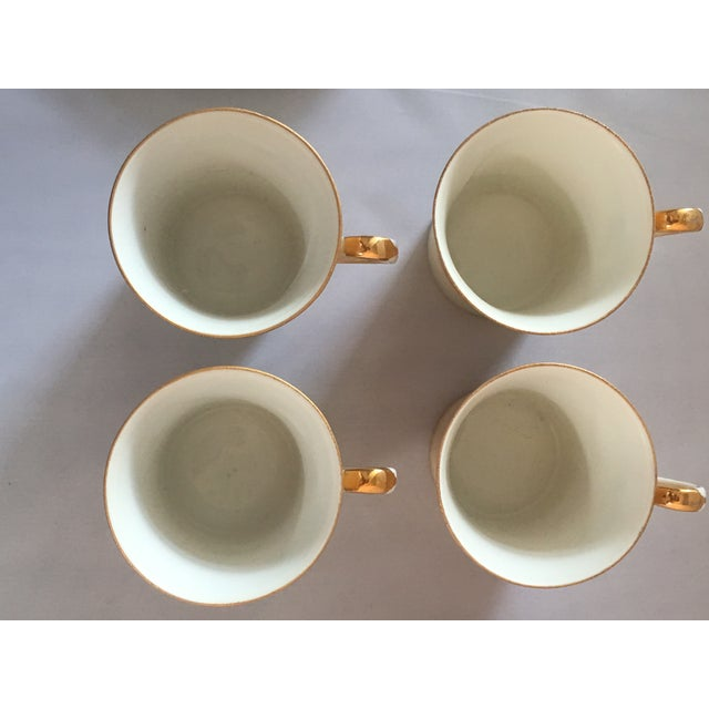 Ceramic Handpainted Noritake Windmill Scene Cups & Saucers - Set of 4 For Sale - Image 7 of 11