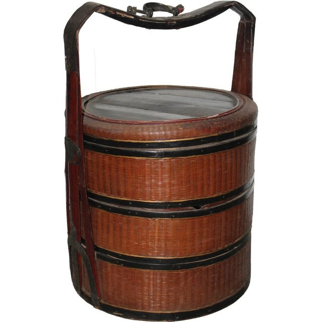 Antique Rattan Picnic Box For Sale - Image 5 of 5
