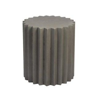 Sunburst Cement Side Table For Sale