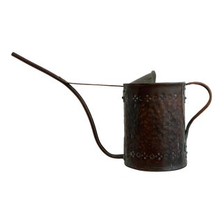 1940s Artisan Hand Crafted Copper Watering Can For Sale