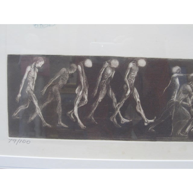 "1970s Vintage G. H. Rothe ""School of Flight"" Ballet Dancer Anatomical Mezzotint Print For Sale In San Diego - Image 6 of 10"