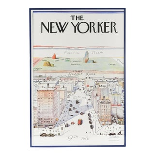 """1976 """"View of the World"""" Saul Steinberg Original Poster For Sale"""