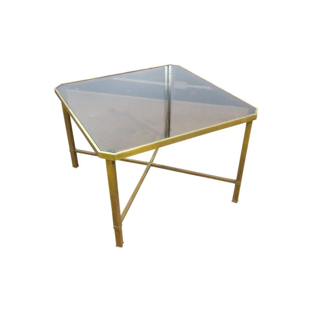 Italian Modern Glass Top Coffee Table For Sale - Image 11 of 11