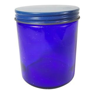 Cobalt Lidded Lotion Jar